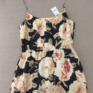 NEW J. Crew 100% Silk Floral Print Dress Size 4